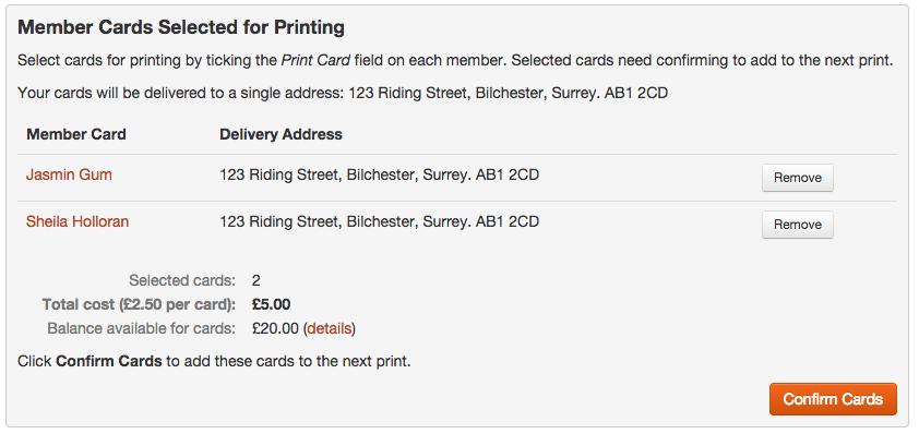 Plastic Club Membership Card Printing at membermojo